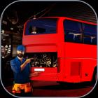 3D Bus Garage Repairing Game