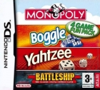 4 Game Fun Pack: Monopoly / Boggle / Yahtzee / Battleship