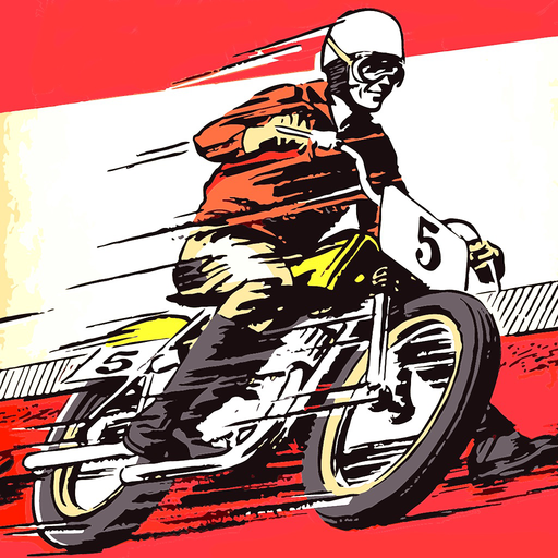 Anime Motorcycle Racer On The Road Race Dirt