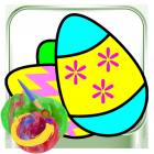 Coloring Pages Egg  for Kids Little Family
