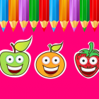 Coloring Pages Game For Kids Fruits Version