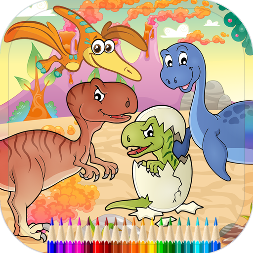 Dinosaur Coloring Book Games Page For Kids Education Game Wiki