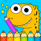 Easy colouring & drawing book!