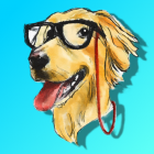 Golden Retriever Illustrated Stickers