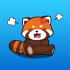 PanPan The Orange Panda Sticker