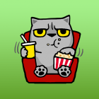 Snubbs The Grey Cool Cat Sticker 2